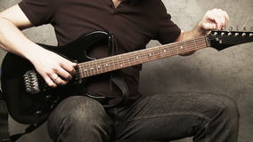 Guitarist stock footage