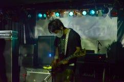 Guitarist from Melt Banana stock photo