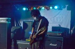 Guitarist from Melt Banana stock images