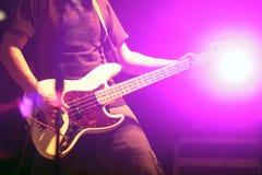 Guitarist in nightclub, blur in moving Stock Images