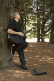 Guitarist Outdoors Royalty Free Stock Image