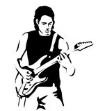Guitarist (particular) Stock Photography