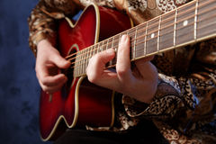 Guitarist playing   Royalty Free Stock Photos
