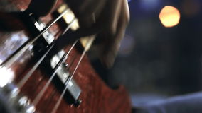 Guitarist playing. close-up. arm stock footage