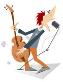 Guitarist. Is playing music with inspiration Stock Photography