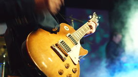 Guitarist playing on stage stock video