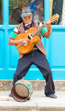 Guitarist playing traditional music in Old Havana Royalty Free Stock Image