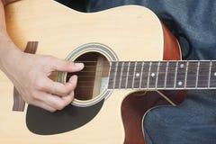 Guitarist plays Royalty Free Stock Photo