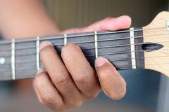Guitarist plays Royalty Free Stock Images