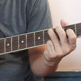Guitarist plays Royalty Free Stock Photo