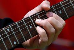 Guitarist plays Stock Image