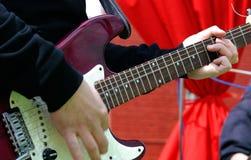Guitarist plays Stock Photography