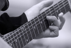 Guitarist plays Stock Images