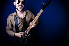 Guitarist Portrait Stock Photo