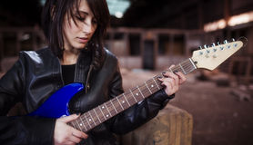 Guitarist portrait Stock Photos