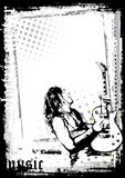 The Guitarist Poster. The Illustration of the Guitarist Royalty Free Stock Photos