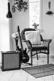 A guitarist rehearsal corner at home royalty free stock photos