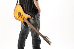 Guitarist rock Stock Photography