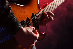 Guitarist rock live Royalty Free Stock Photos