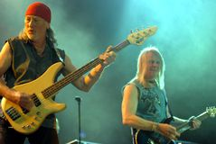 Guitarist Roger Glover and Steve Morris. Royalty Free Stock Images