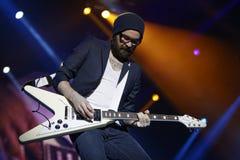 Guitarist Sascha Eigner Stock Images