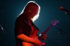 Guitarist on a scene Stock Photography