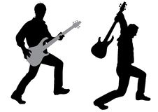 Guitarist silhouette vector Royalty Free Stock Image