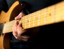 Guitarist solo Stock Image