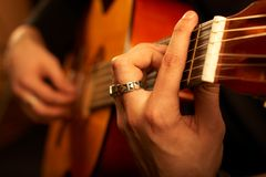 Guitarist on stage Royalty Free Stock Photo