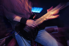 Guitarist on the stage Stock Photography