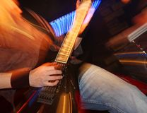 Guitarist on the stage Royalty Free Stock Image