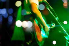 Guitarist on stage for background, soft and blur concept Stock Photography