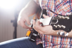 Guitarist on stage Royalty Free Stock Images