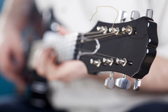 Guitarist on stage Stock Photography