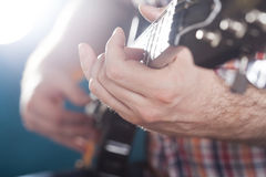 Guitarist on stage Stock Photo
