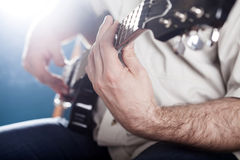 Guitarist on stage Stock Photos