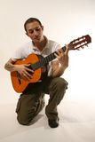 Guitarist in studio Royalty Free Stock Photo