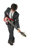 Guitarist in suit Stock Image