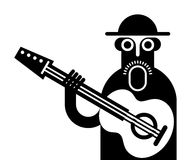 Guitarist vector icon Royalty Free Stock Photos