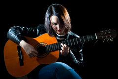 Guitarist Woman Stock Image