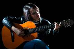 Guitarist Woman Stock Images