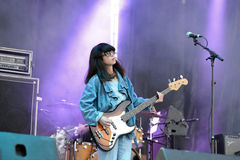 The guitarist of Yuck (band) performs at MBC Fest Stock Image