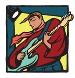 Guitariste avec l'écharpe illustration de vecteur