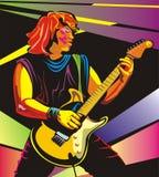 Guitariste d'art de bruit - exécutez de concert illustration stock