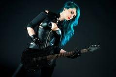 Guitariste de femme Photo stock