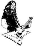 Guitariste de guitare acoustique jouant des groupes Photos libres de droits
