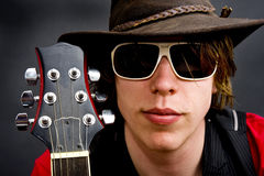 Guitariste de roche de jazz Image libre de droits