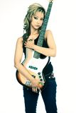 Guitariste de roche - musicien Photographie stock