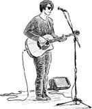 Guitariste de rue illustration libre de droits