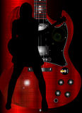 Guitariste fascinant de roche Image libre de droits